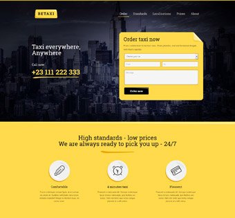طراحی سایت حرفه ای تاکسی