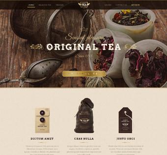 طراحی سایت حرفه ای چای و قهوه