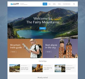 طراحی سایت حرفه ای گردشگری