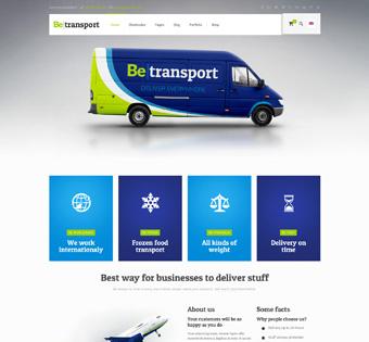 طراحی سایت حرفه ای حمل و نقل
