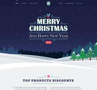 طراحی سایت حرفه ای کریسمس